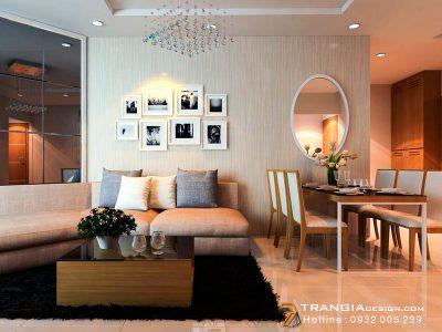 Nội thất căn hộ chung cư thiết kế hiện đại