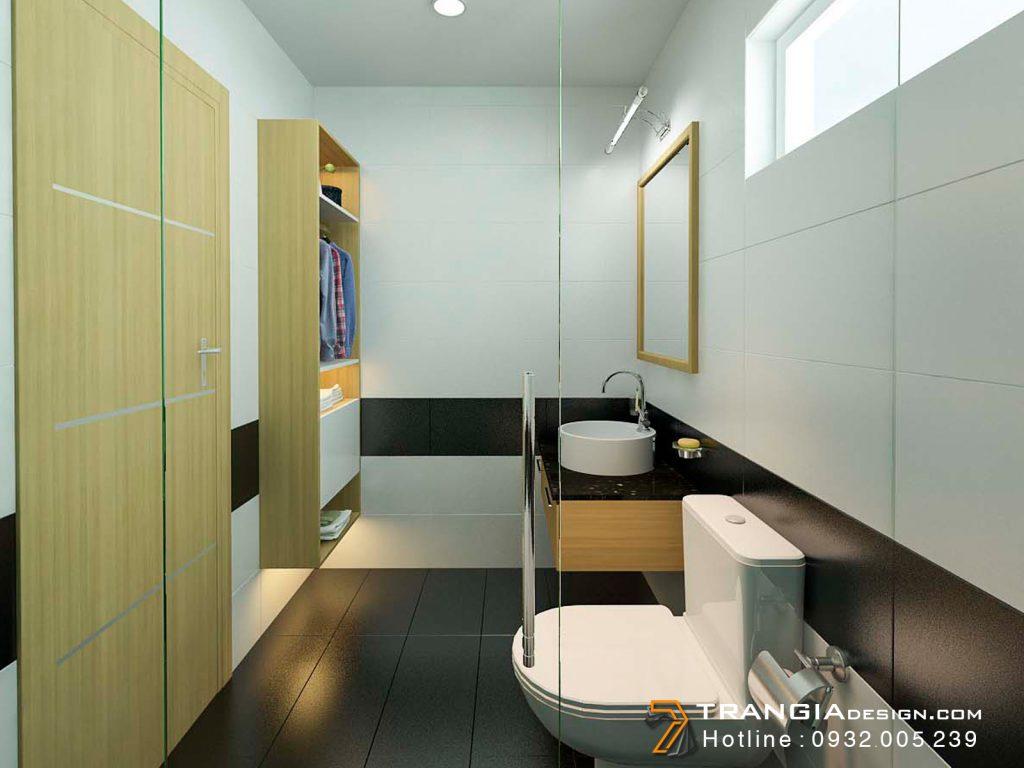 Thiết kế nội thất WC căn hộ chung cư đẹp