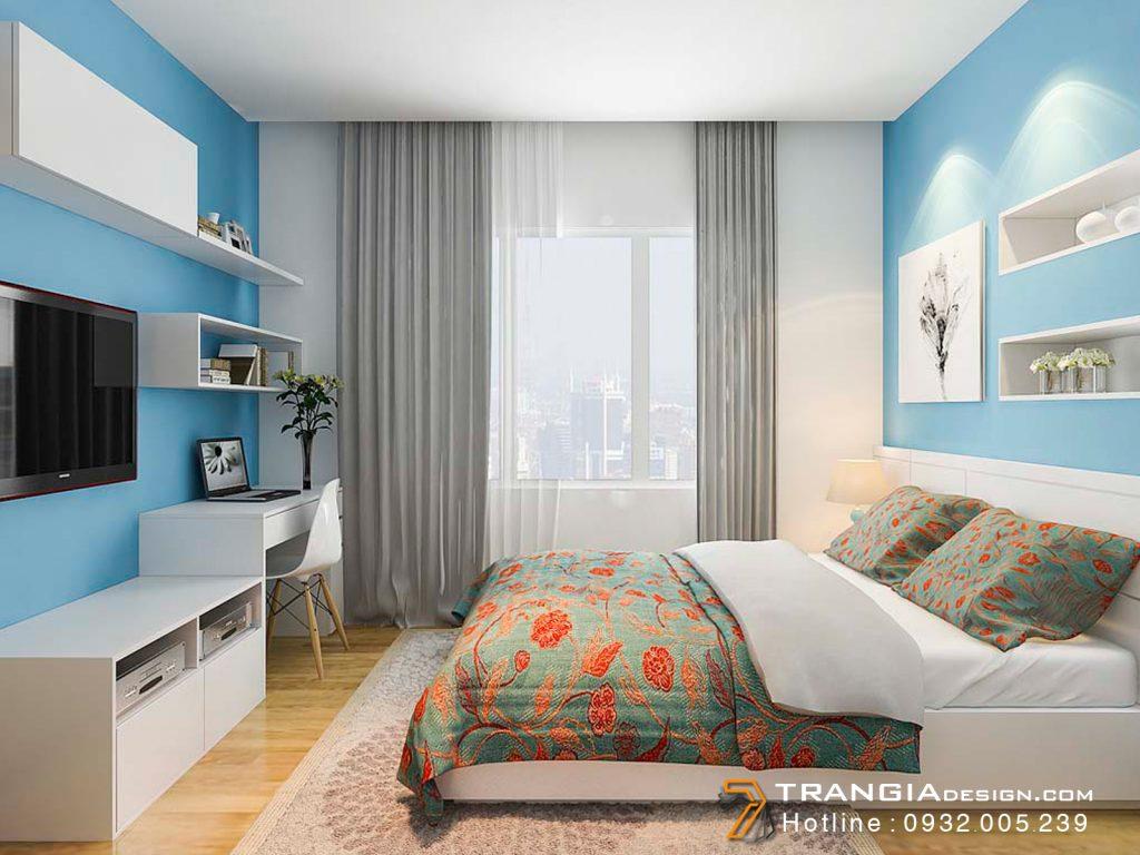 Thiết kế nội thất phòng ngủ căn hộ chung cư đẹp