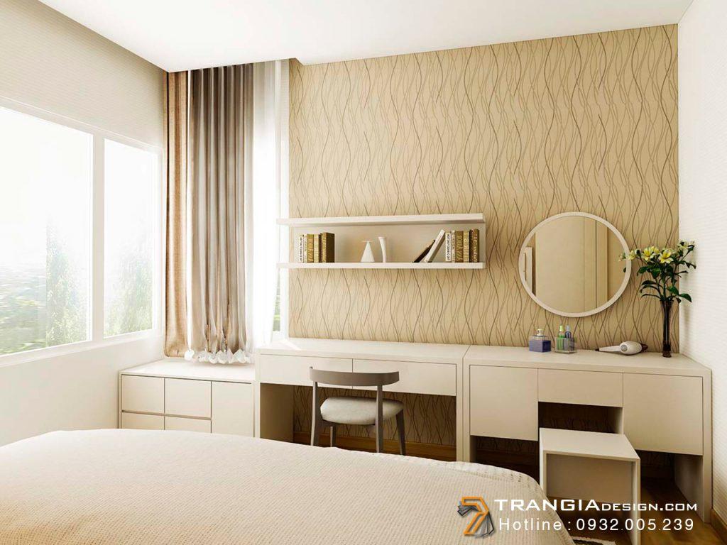 Thiết kế nội thất căn hộ chung cư đơn giản hiện đại