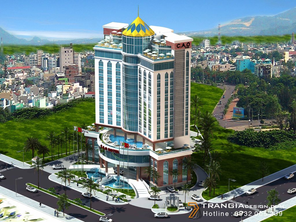 Thiết kế khách sạn đẹp tiêu chuẩn 4 sao