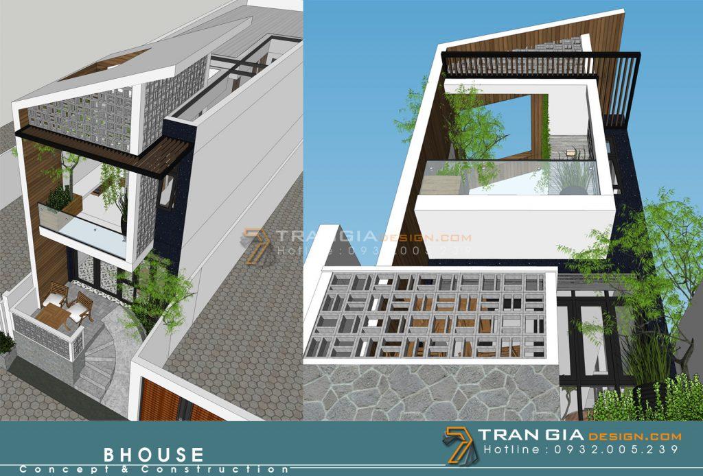 thiết kế nhà phố đẹp Đà Lạt
