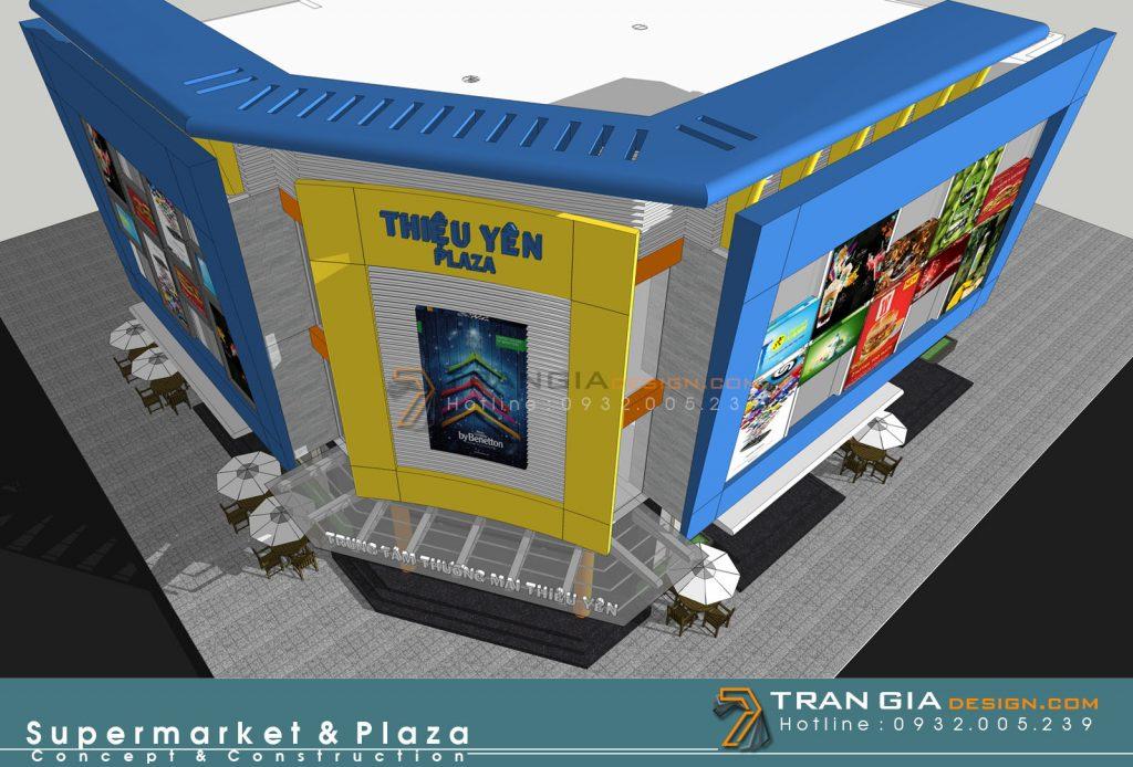Thiết kế plaza trung tâm thương mại hiện đại sang trọng