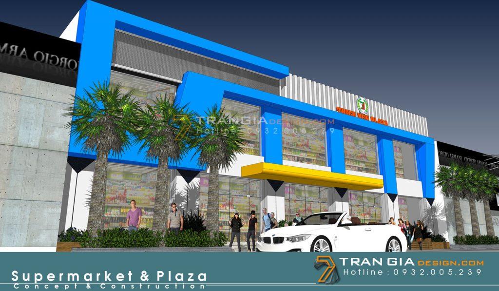 thiết kế thi công gian hàng plaza