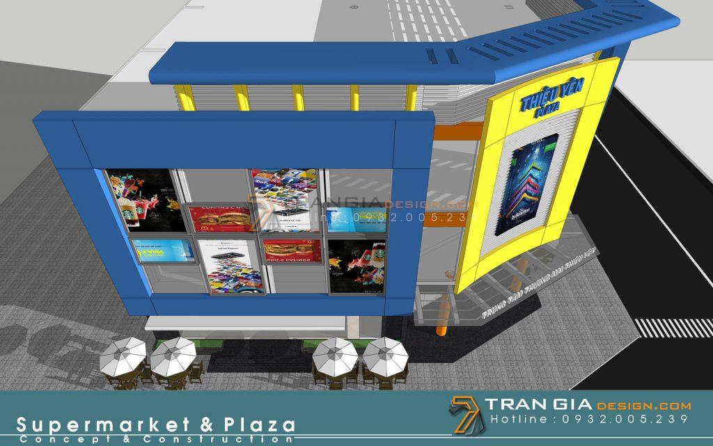 Thiết kế plaza supermarket mall foodcourt