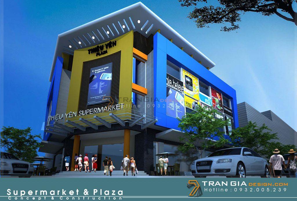 Thiết kế trung tâm thương mại hiện đại
