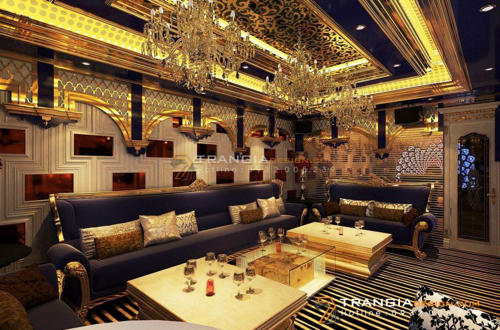 Thiết kế nội thất karaoke đẹp sang trọng