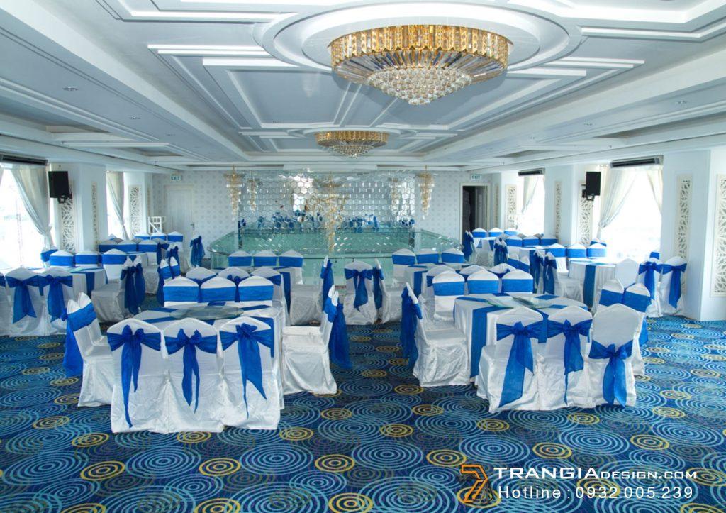 Thiết kế nội thất tiệc cướilãng mạn sang trọng
