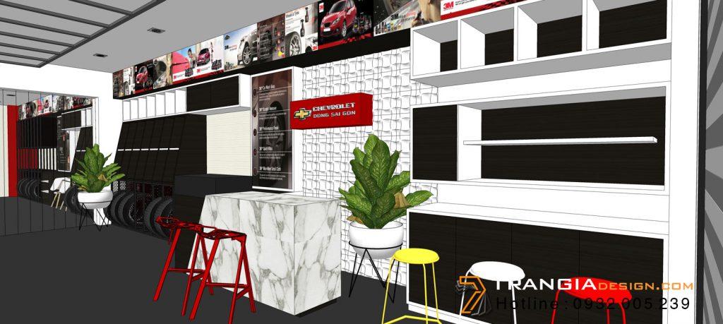 Thiết kế nội thất showroom trưng bày sản phẩm