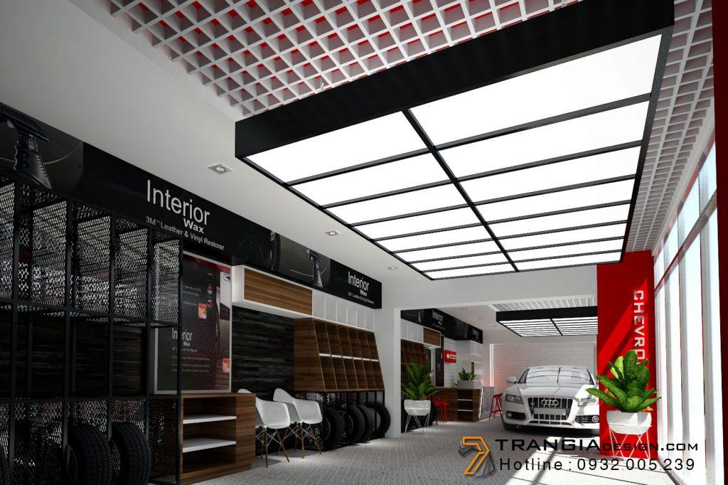 Thiết kế nội thất showroom độc lạ