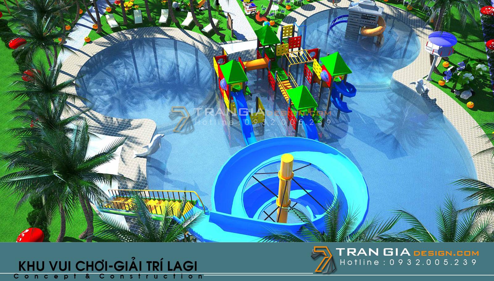 Thiết kế khu vui chơi trong resort