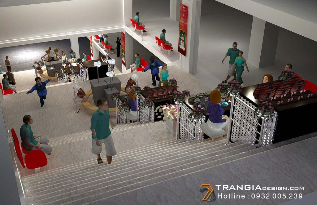 Thiết kế foodcourt gian hàng chợ đêm