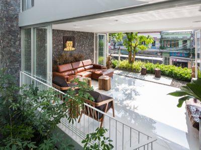 Thiết kế nhà phố sân vườn
