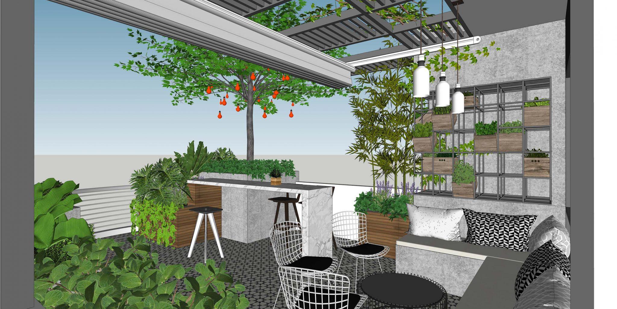 B House 2 - Giải pháp vay mượn không gian trong thiết kế