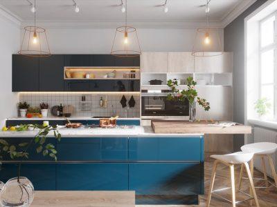 thiết kế không gian bếp xinh