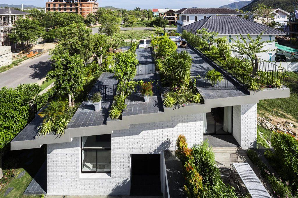 thiết kế cây xanh xây nhà chống nóng